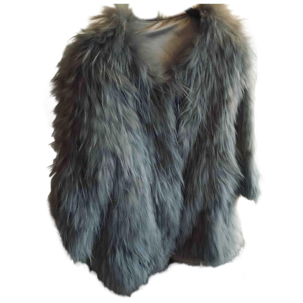 Oakwood - Manteau   pour femme en lapin - gris