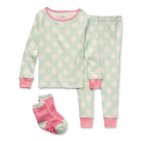 Okie Dokie Toddler Girls 2-pc. Pant Pajama Set, 2t , Green