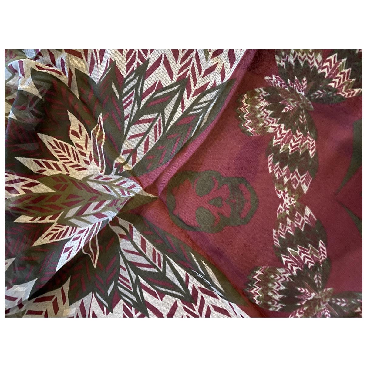 Zadig & Voltaire \N Schal in  Bordeauxrot Polyester