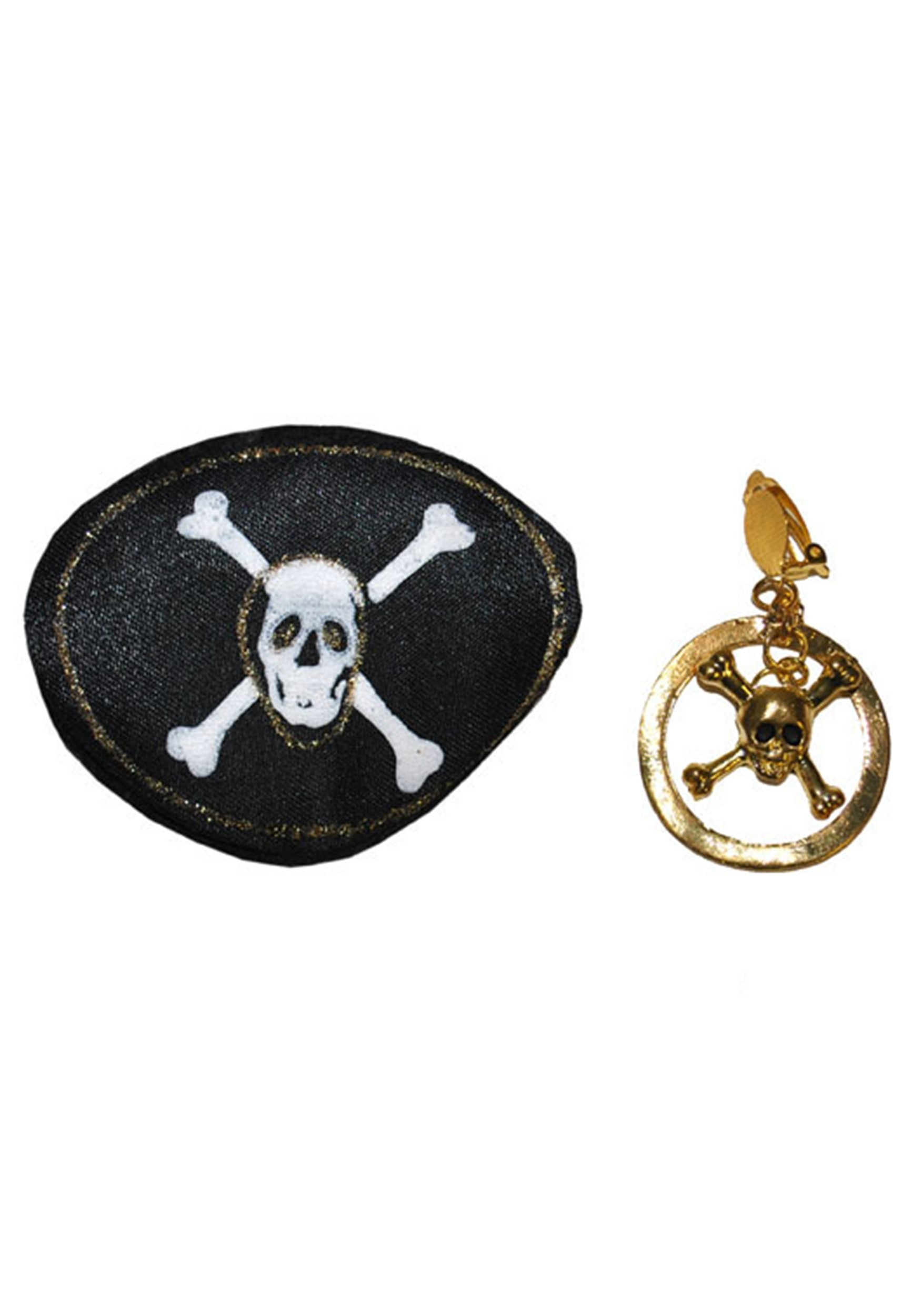 Pirate Eyepatch and Earring Accessories