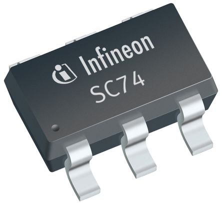 Infineon ESD5V5U5ULCE6327HTSA1, Quint-Element Uni-Directional TVS Diode, 6-Pin SC-74 (100)
