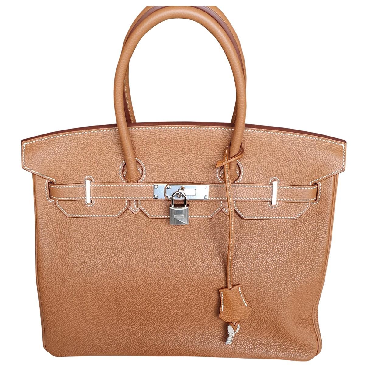 Hermès Birkin 35 Gold Leather handbag for Women \N