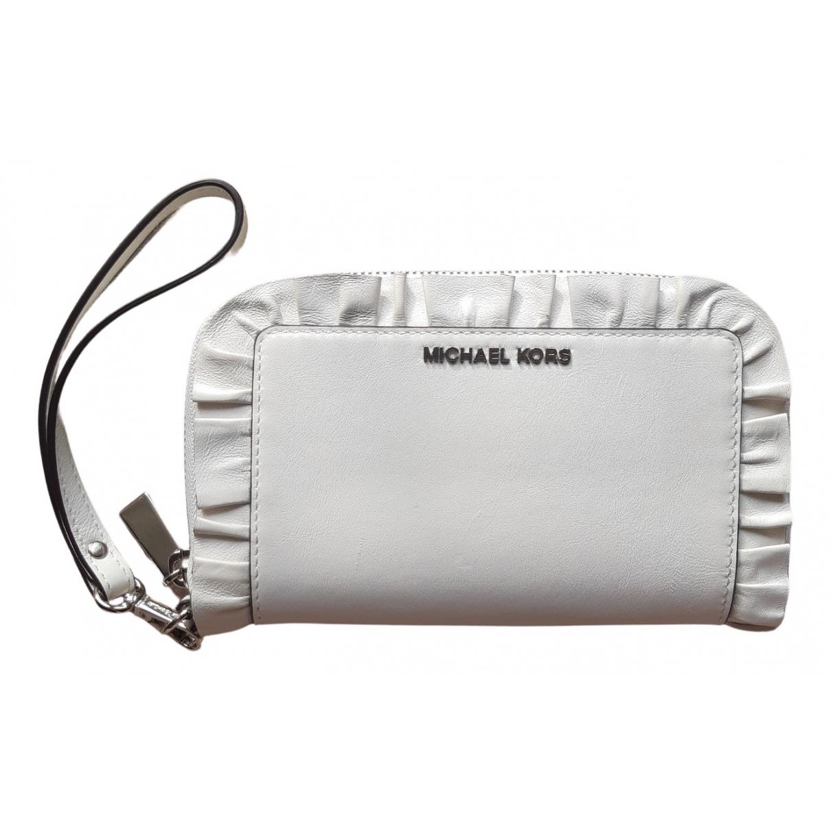 Michael Kors - Portefeuille   pour femme en cuir - blanc