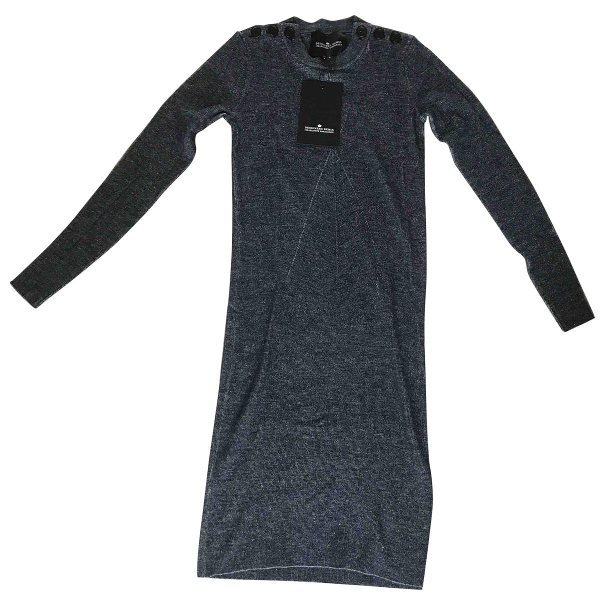 Designers Remix - Pull   pour femme en laine - bleu