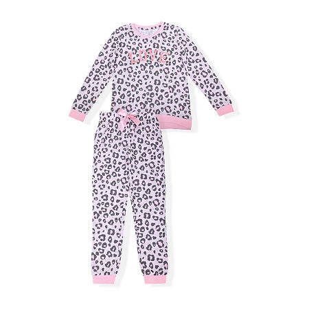 Sleep On It Big Girls 2-pc. Pajama Set, Medium (10-12) , Pink