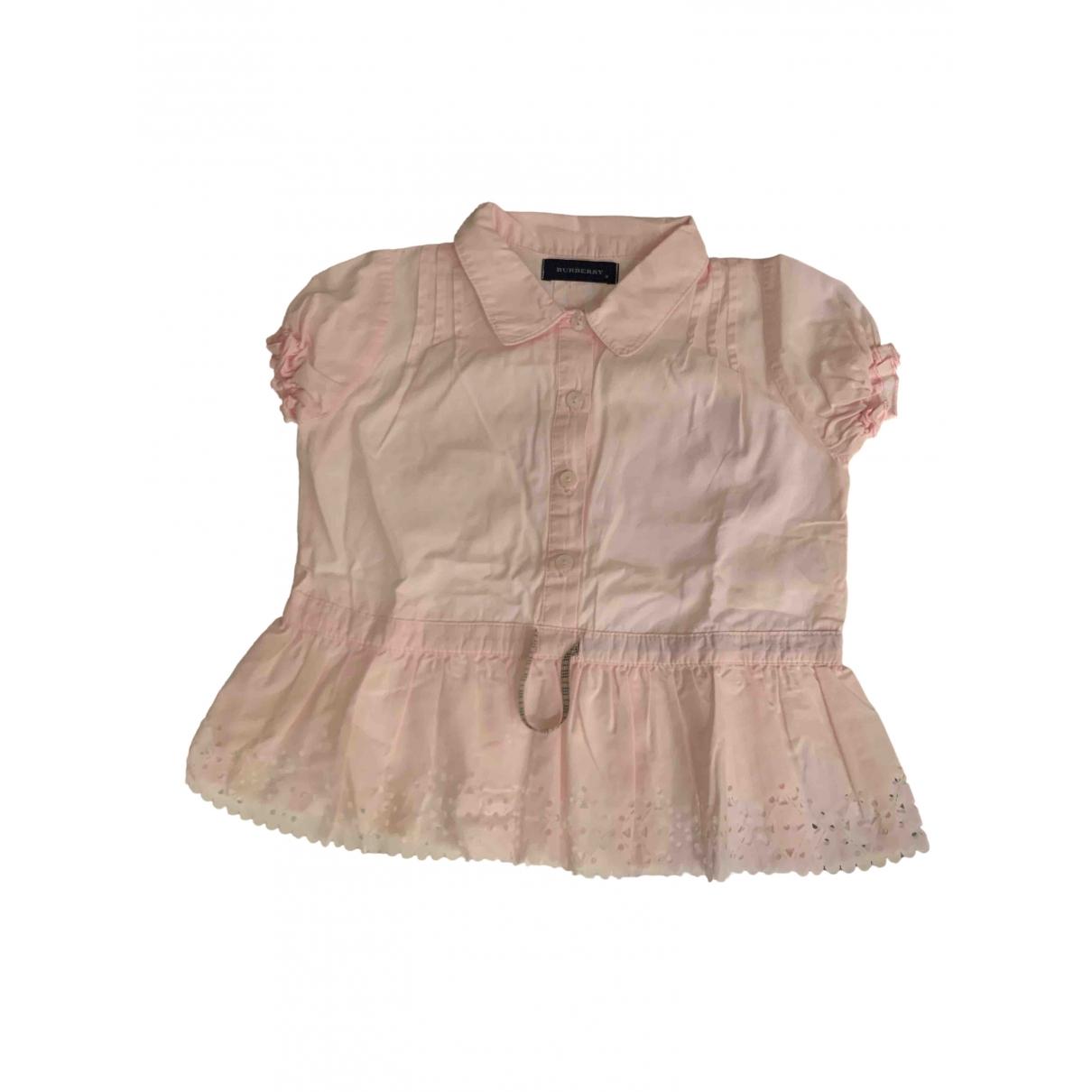 Burberry - Top   pour enfant en coton - rose