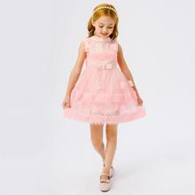 Toddler Girls Stereo Flower Gown Dress