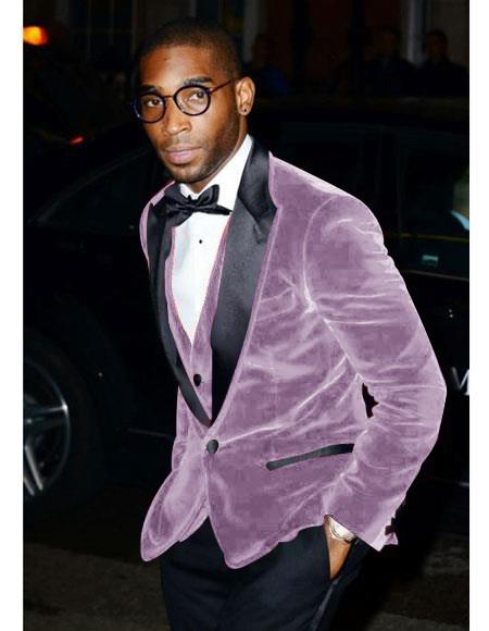 Mens Two Button Velvet Floral Mens Fancy Prom Outfit Wedding Blazer