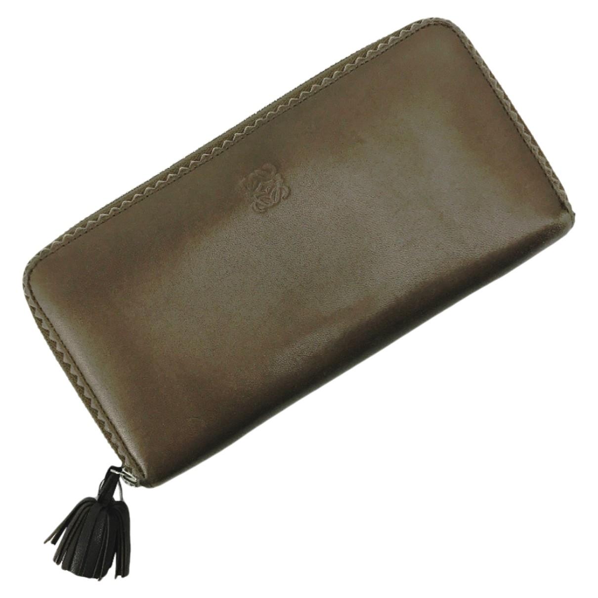 Loewe \N Portemonnaie in  Schwarz Leder