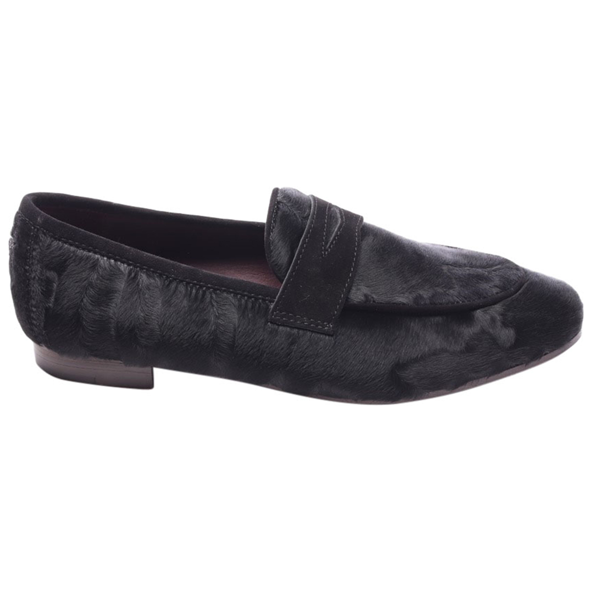 Non Signé / Unsigned \N Black Leather Trainers for Women 40.5 EU