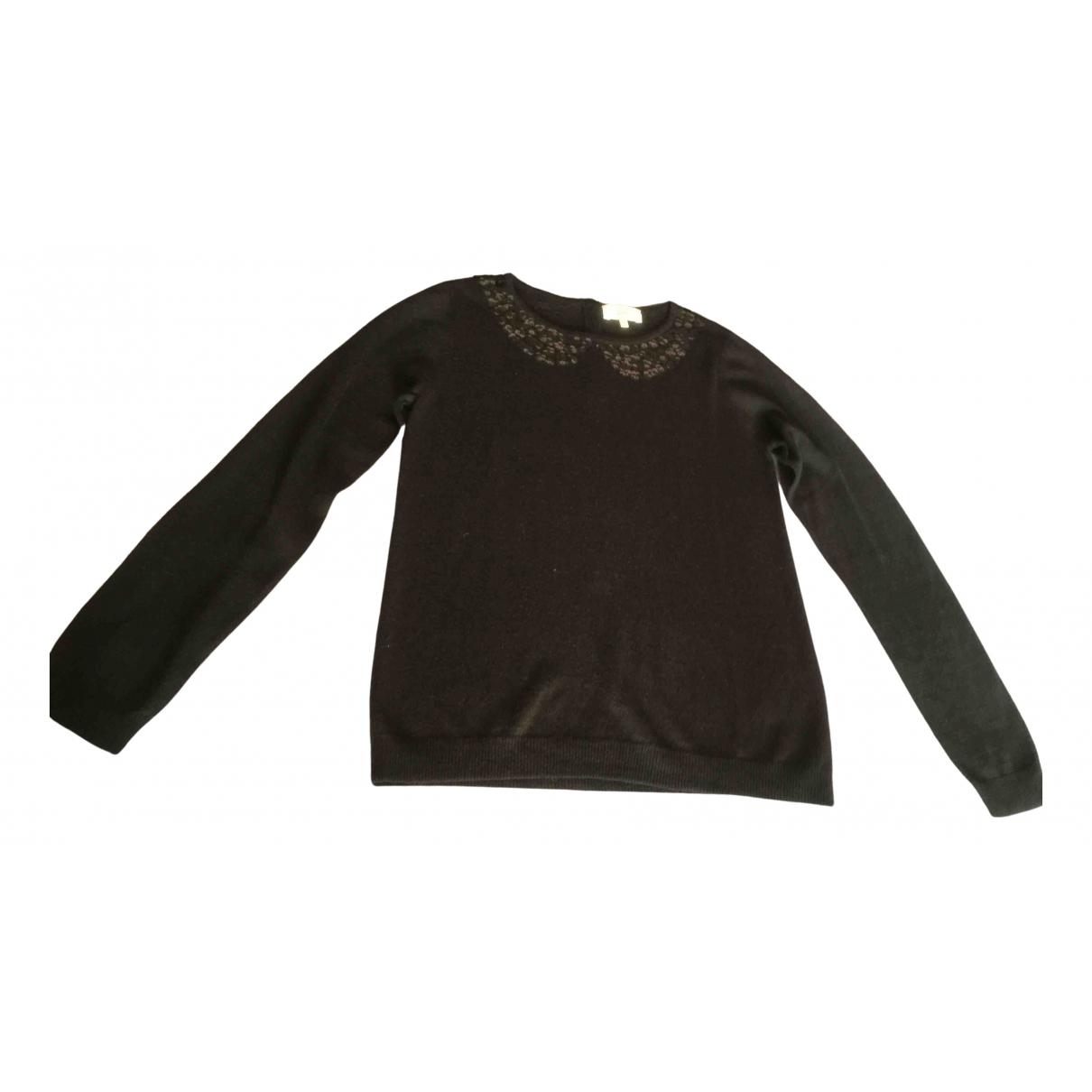 Pablo - Pull   pour femme en laine - noir