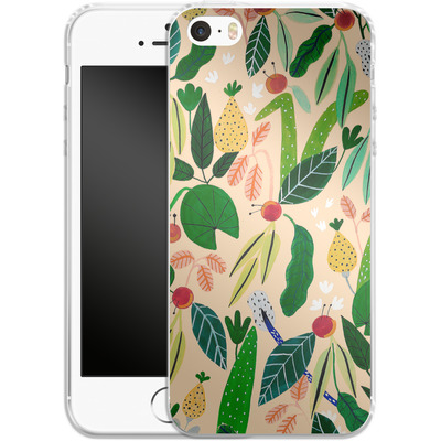 Apple iPhone SE Silikon Handyhuelle - Tropical Greens von Iisa Monttinen