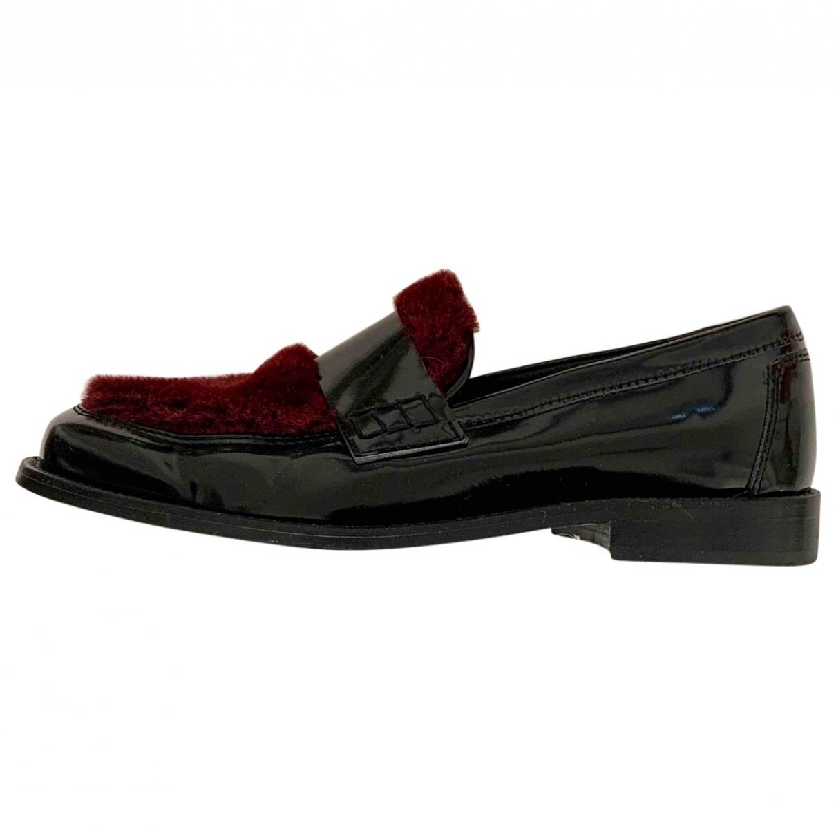 Joshua Sanders \N Black Patent leather Flats for Women 37 IT