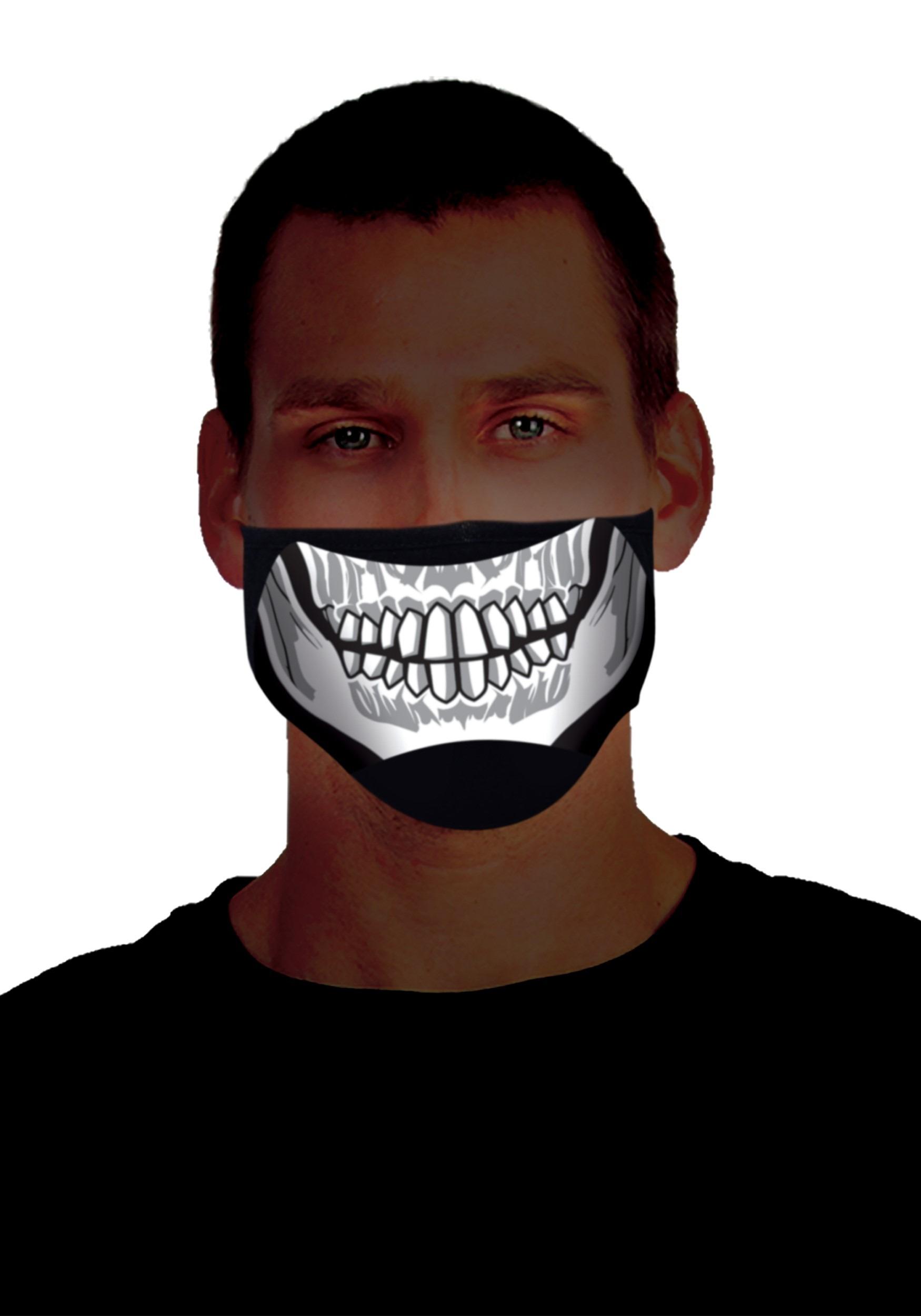 Skeleton Sound Activated Light Up Mask