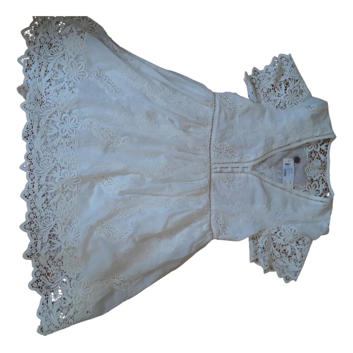 Spell Design - Robe   pour femme en coton - blanc