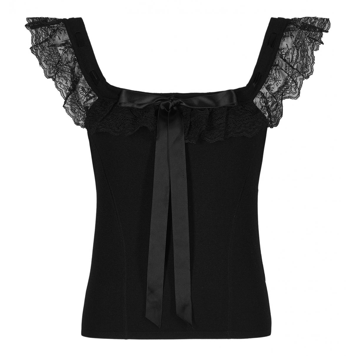 Valentino Garavani - Top   pour femme en laine - noir