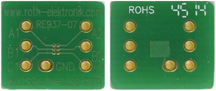Roth Elektronik RE937-07, Double Sided Extender Board Adapter Adapter With Adaption Circuit Board 12.7 x 8.89 x 1.5mm