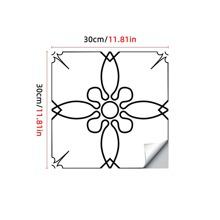 1pc Vintage Flower Pattern Floor Sticker