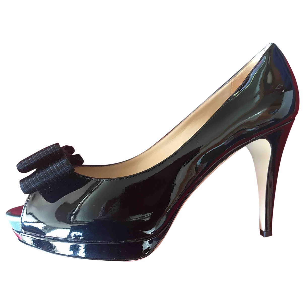 Valentino Garavani - Escarpins   pour femme en cuir verni - noir