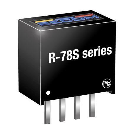 Recom Through Hole Switching Regulator, 1.8V dc Output Voltage, 0.65 → 1.3V dc Input Voltage, 100mA Output