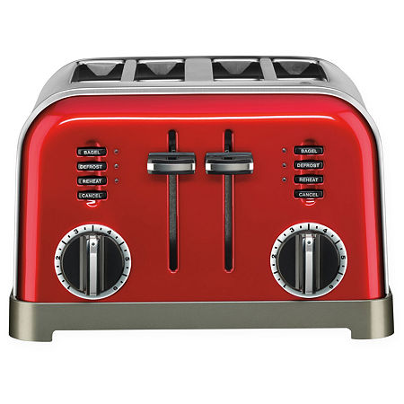 Cuisinart 4-Slice Toaster CPT-180, One Size , Red