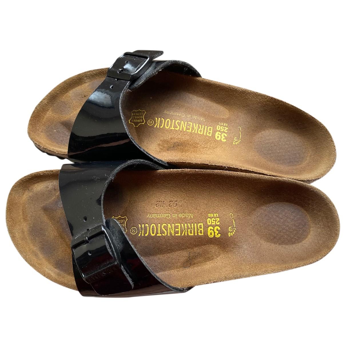 Birkenstock - Sandales   pour femme en cuir verni - noir