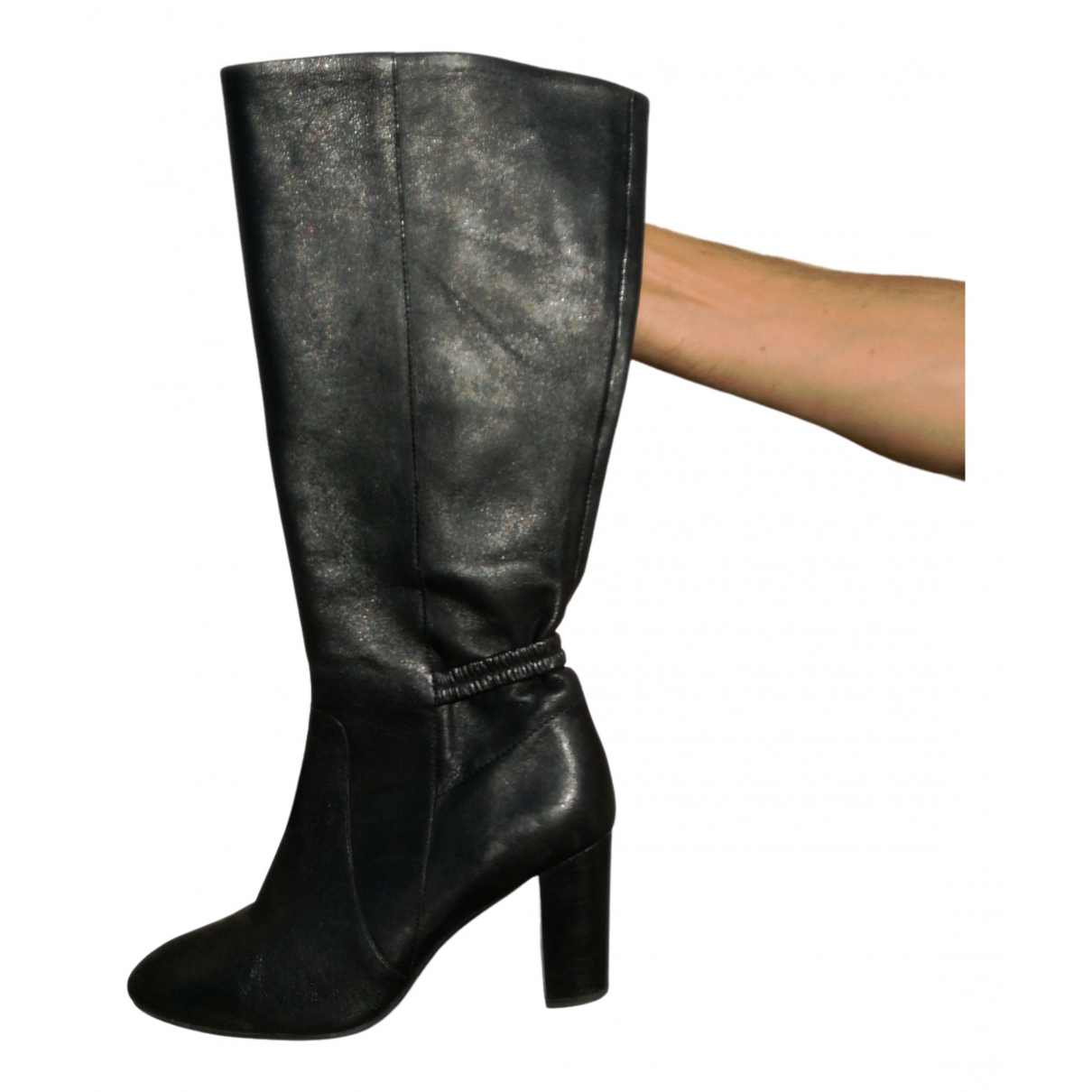 Non Signé / Unsigned N Black Leather Boots for Women 41 EU