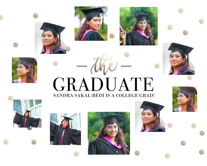 Graduation 16x20 Poster, Home Décor -Graduate Metallic Dots