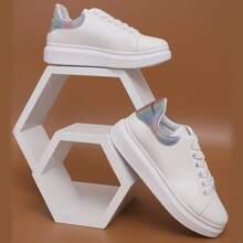 Zapatos de patin con cordon delantero brillante