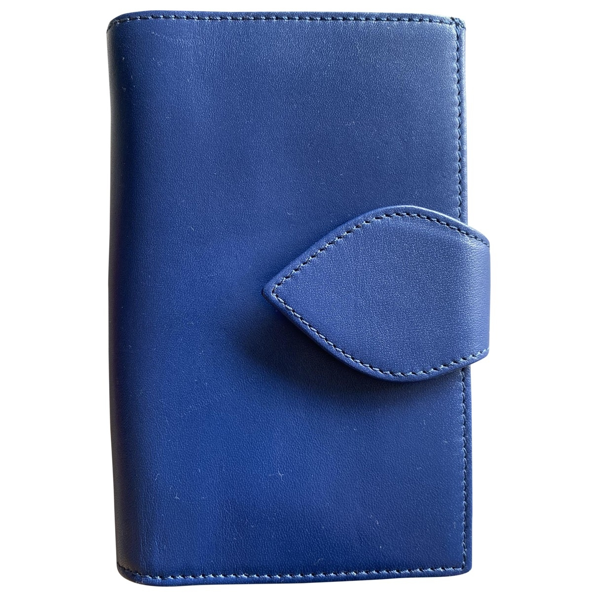 Apc - Portefeuille   pour femme en cuir - bleu