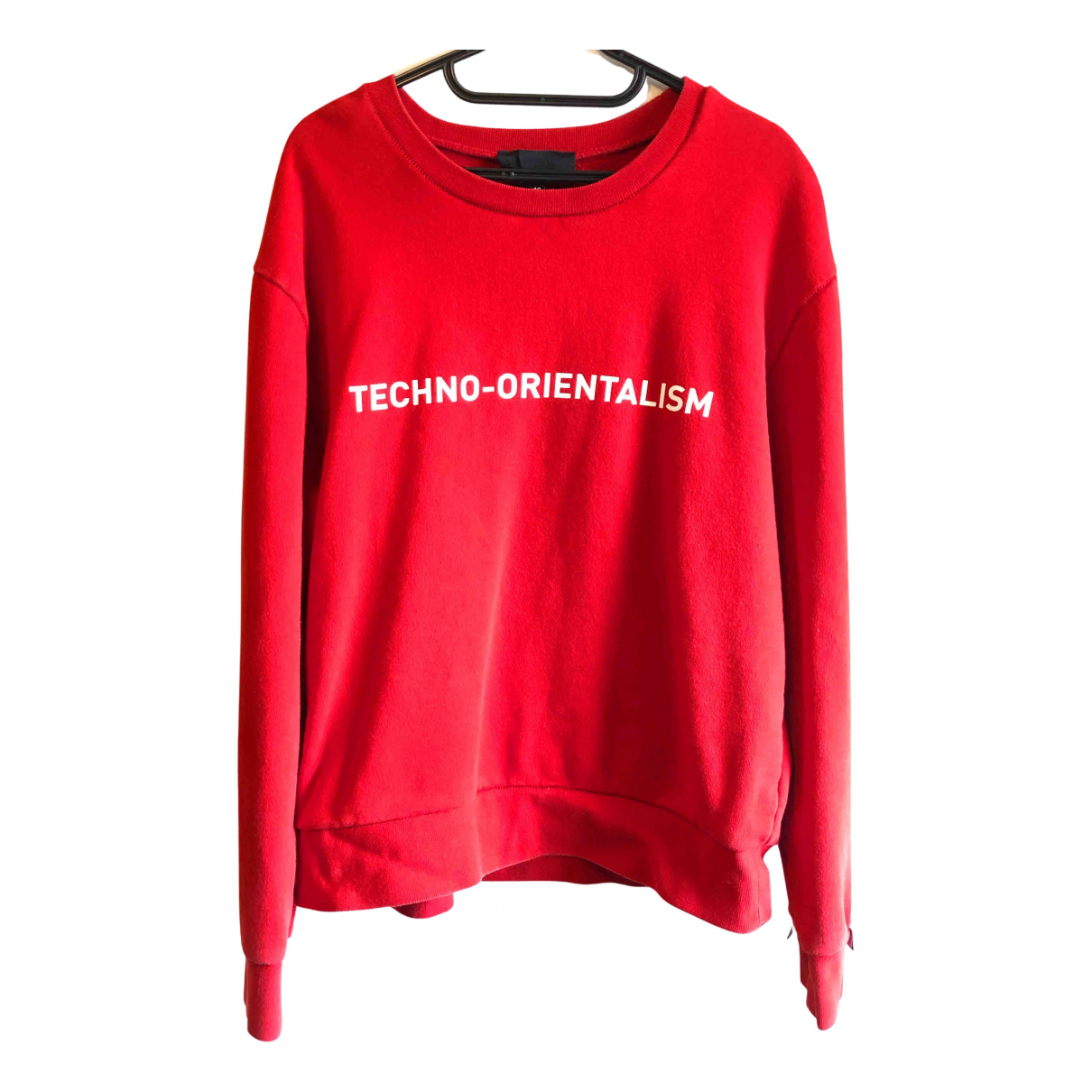 Xander Zhou \N Pullover.Westen.Sweatshirts  in  Rot Baumwolle