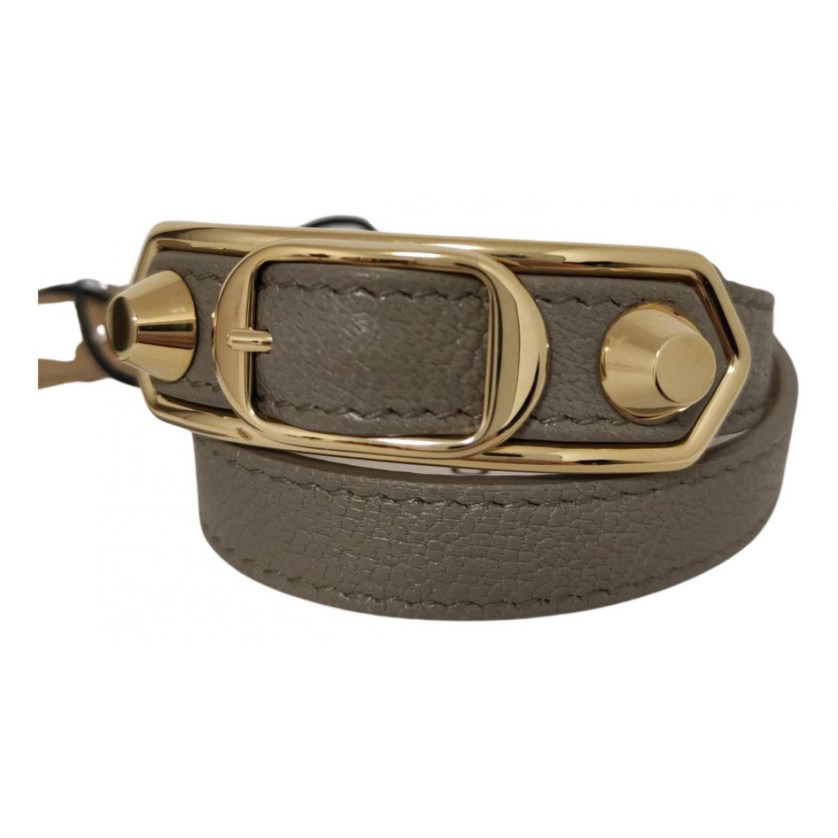 Balenciaga - Bracelet   pour femme en cuir - gris