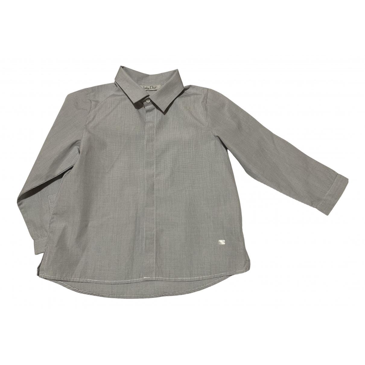 Baby Dior - Top   pour enfant en coton - gris