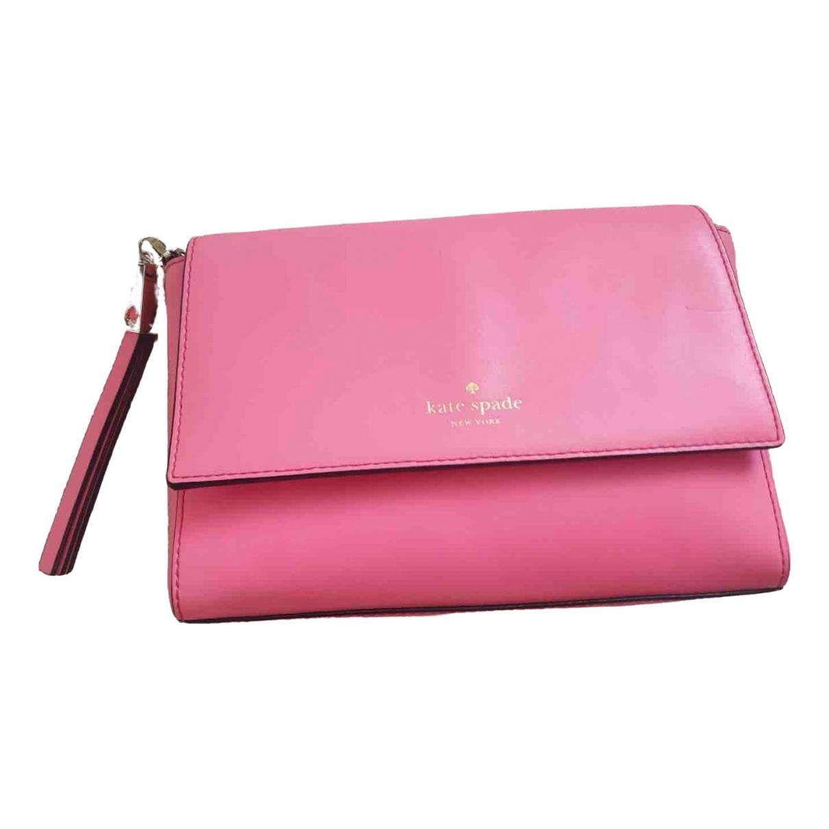 Kate Spade \N Pink Leather Clutch bag for Women \N