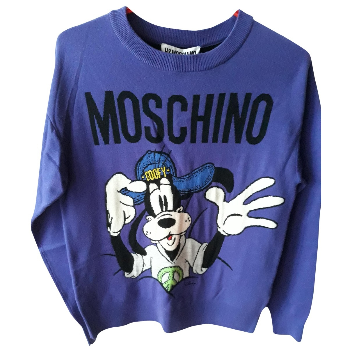Moschino For H&m - Pull   pour femme en laine - violet