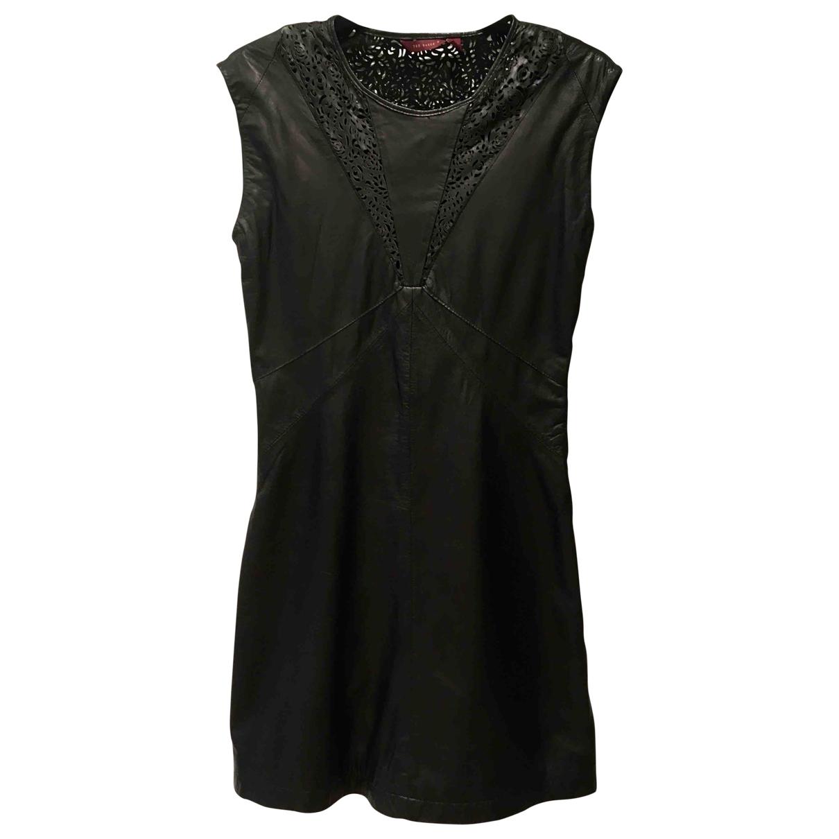 Ted Baker \N Black Leather dress for Women 10 UK