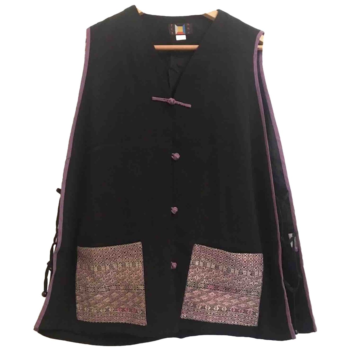 Non Signé / Unsigned \N Black Silk jacket for Women 36 FR