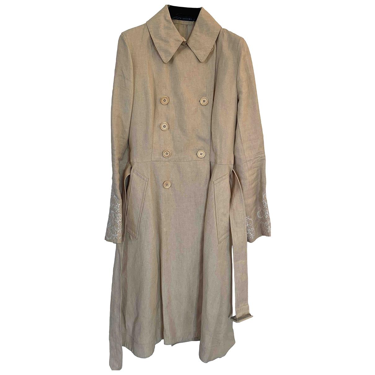 Ralph Lauren \N Ecru Linen Trench coat for Women 4 US