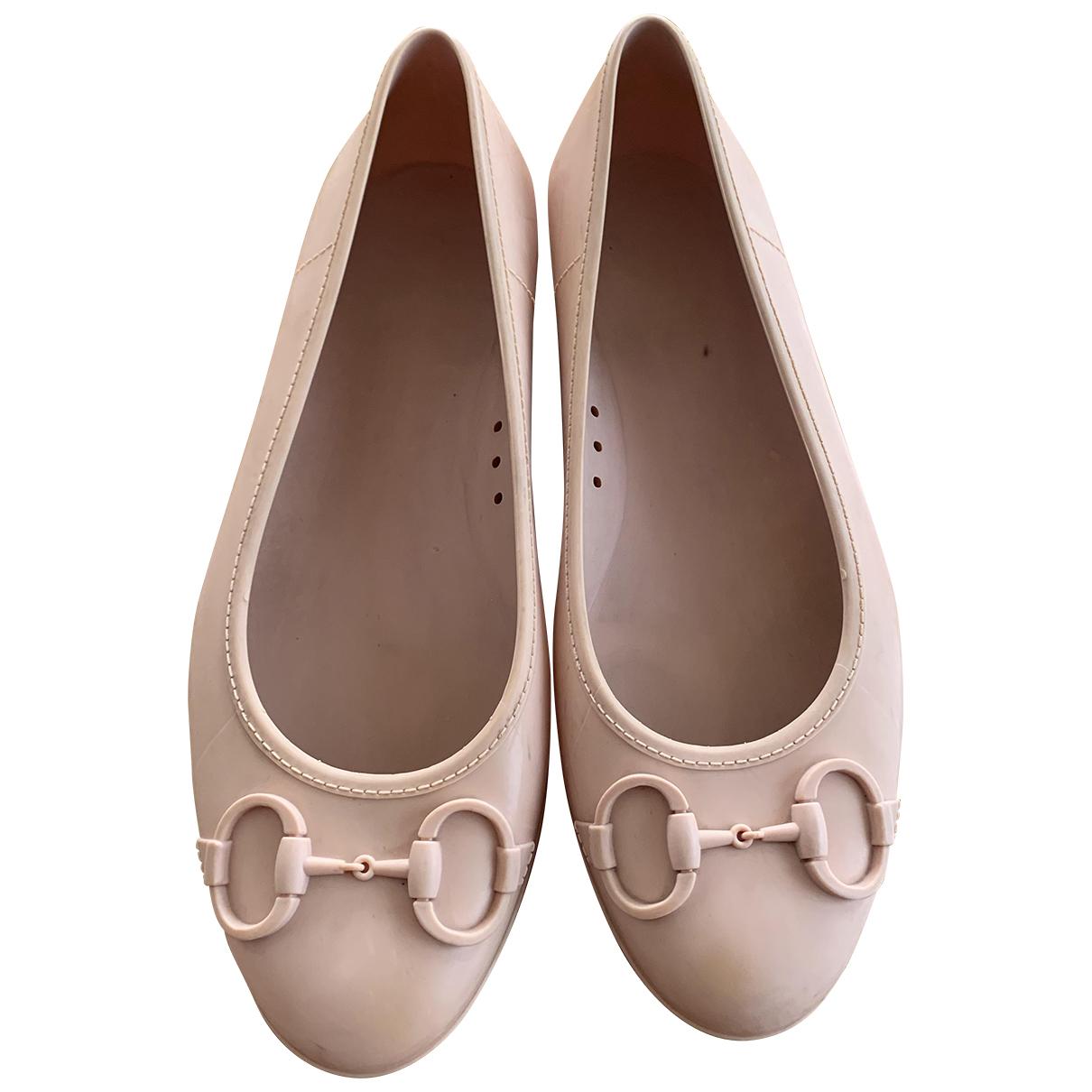 Gucci \N Ballerinas in  Rosa Kautschuk