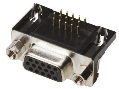 ASSMANN WSW A-HDF Series, 44 Way Right Angle Through Hole PCB D-sub Connector Socket, 2.29mm Pitch