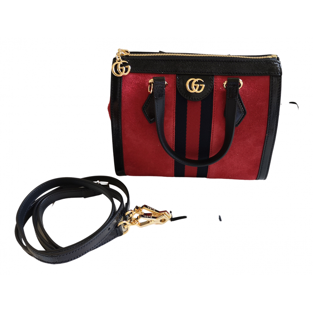 Gucci Ophidia Handtasche in  Rot Veloursleder
