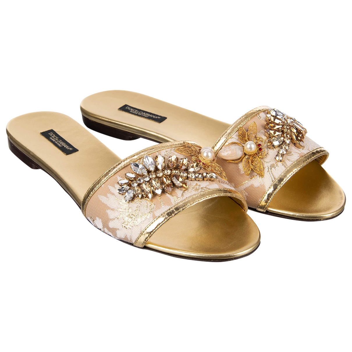 Dolce & Gabbana \N Gold Cloth Sandals for Women 39 EU