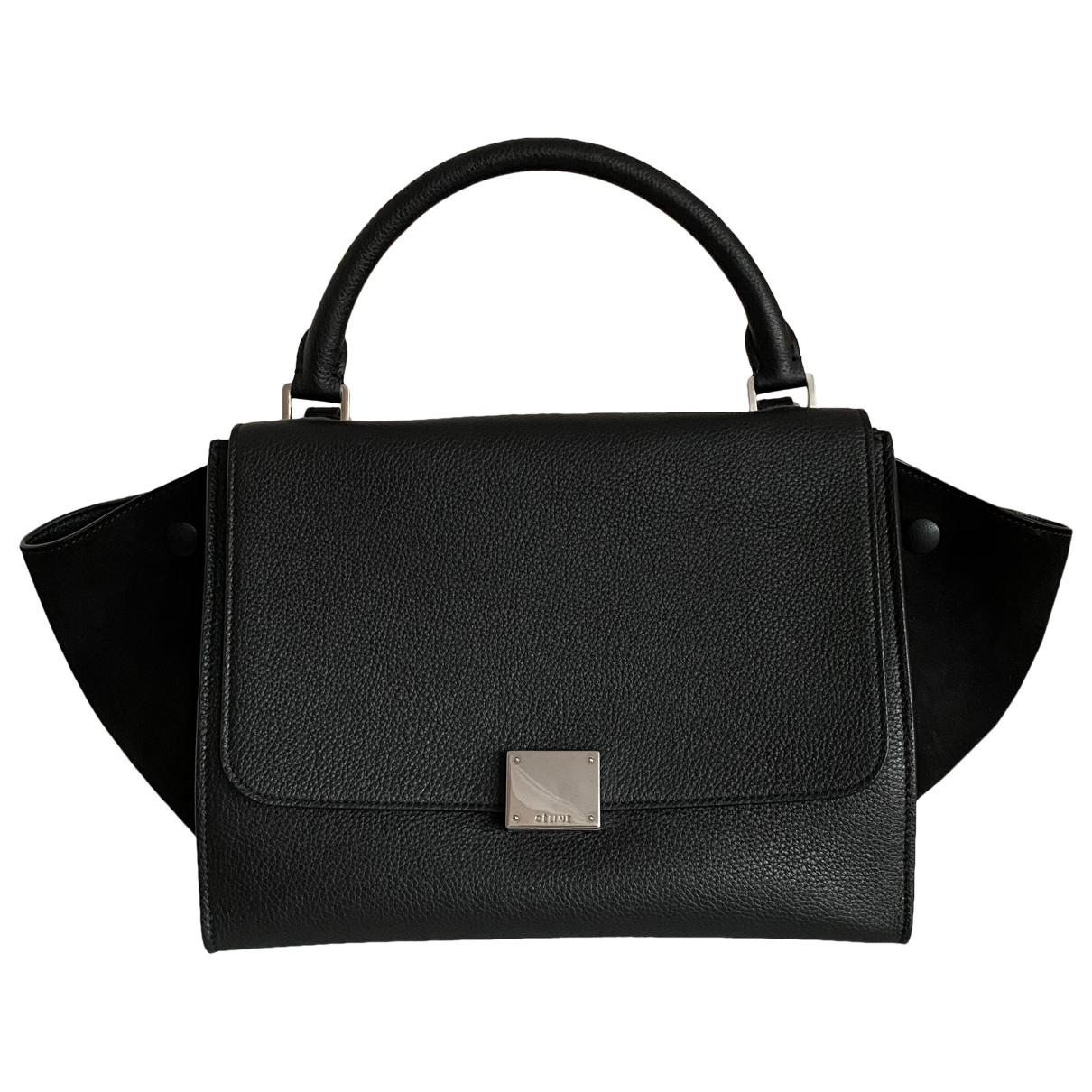 Celine Trapèze Black Leather handbag for Women \N