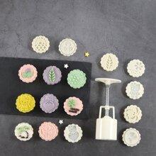 9 Stuecke chinesische Mondkuchenform Set