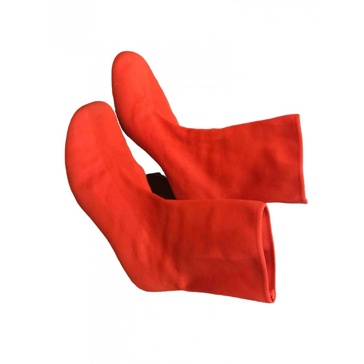 Celine \N Stiefeletten in  Rot Tweed