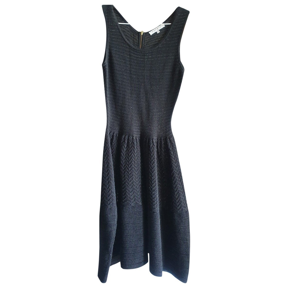 Sandro - Robe   pour femme en laine - noir