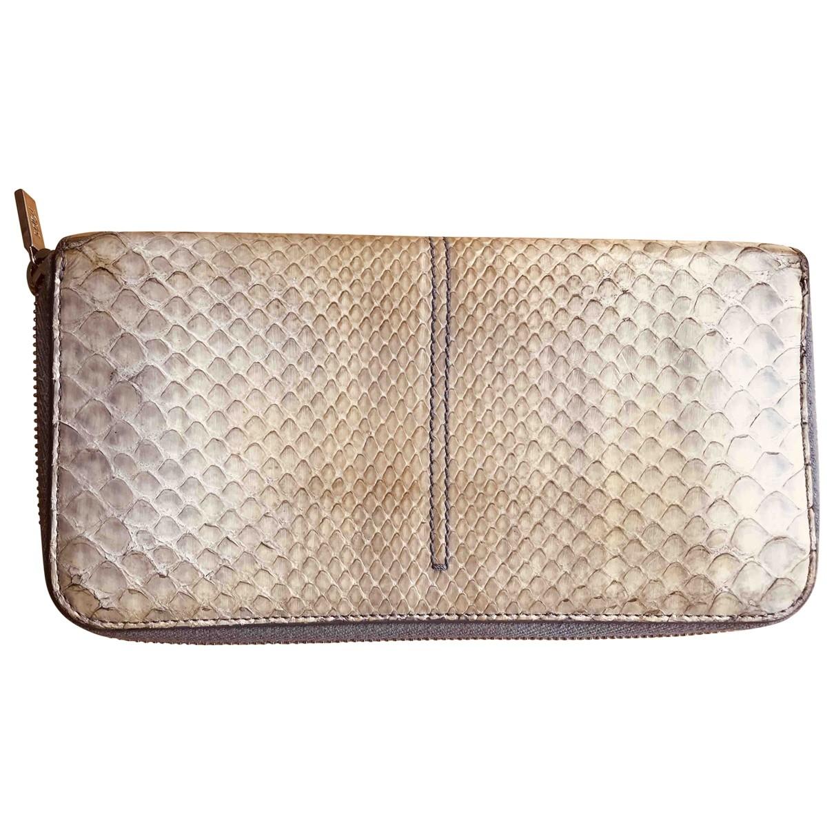 Tods - Portefeuille   pour femme en python - gris
