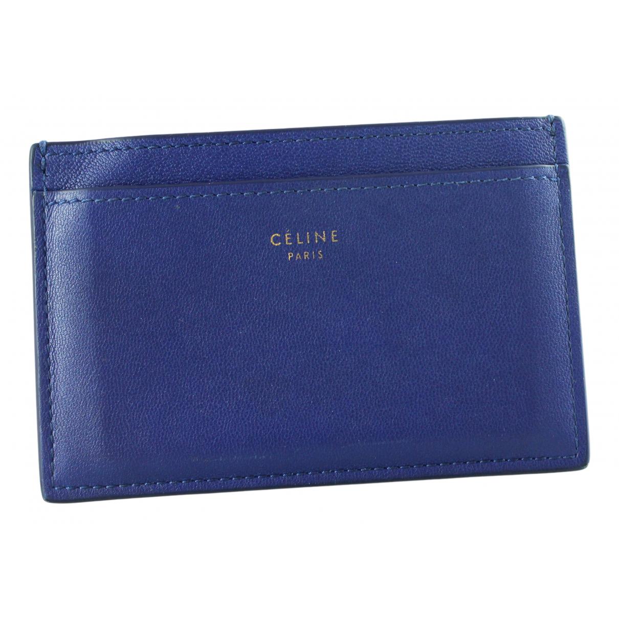 Celine - Petite maroquinerie   pour femme en cuir - bleu