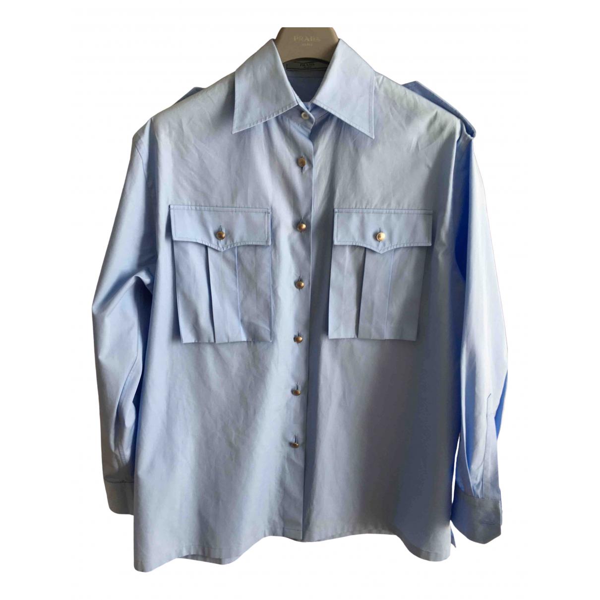 Prada \N Blue Cotton  top for Women 38 IT