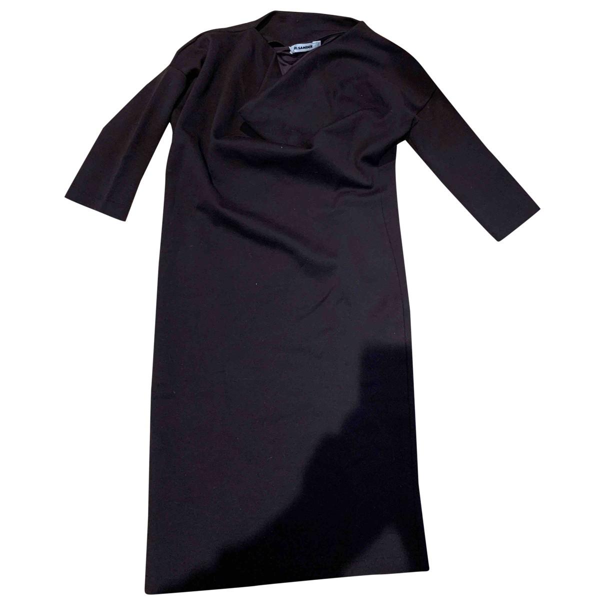 Jil Sander - Robe   pour femme en laine - marron